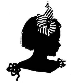 Fairy Silhouette Clip Art | Free Vintage Clip Art – Silhouette Family