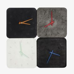 Handcast Concrete Clocks by Sascha Czerny for WerkeWerke - Timeless wall clocks poured in Berlin | MONOQI