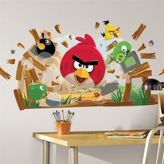 Angry Birds Peel & Stick Giant Wall Decals RMK1992GM  $18.49