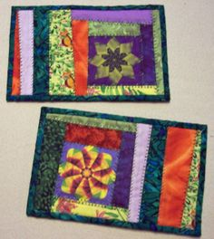 Mug Rugs by quiltsbyelsie on Etsy, $24.00 One of April's Shop Hop Entries.. They're all Gorgeous!!