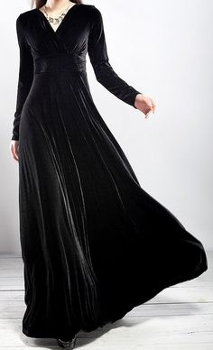 Goth Steampunk Vintage Black Velvet Gown Holiday Dress - Dresses | RebelsMarket