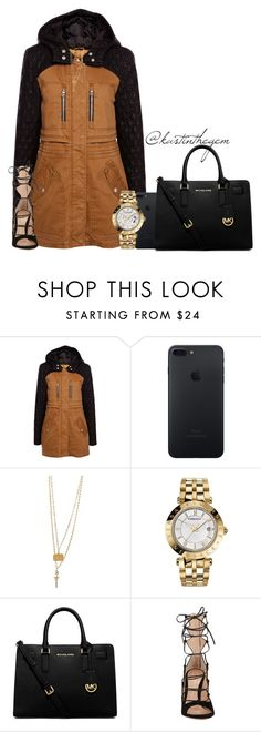 """Untitled #1652"" by beaukastin ❤ liked on Polyvore featuring Pull&Bear, Bee Charming, Versace, MICHAEL Michael Kors and Gianvito Rossi"