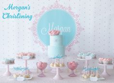 gourgeous christening table