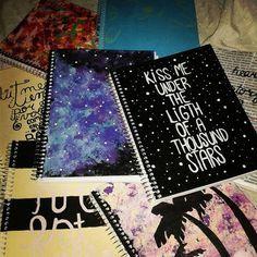 Imagen de notebook, school, and books