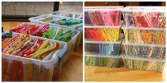 Loving this idea for storing/organizing my fabric stash! #fabric #crafts #organize