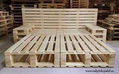 Pallet bed project with storage space. Pallet bed project with storage space. Pallet bed project with storage space. Pallet bed project with storage spa Wooden Pallet Beds, Pallet Bed Frames, Diy Pallet Bed, Diy Pallet Furniture, Diy Pallet Projects, Wood Pallets, Pallett Bed, Garden Projects, Bed Made From Pallets