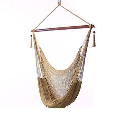 Sunnydaze Hanging Caribbean XL Hammock Chair, Tan, 40 Inch Wide Seat Sunnydaze Decor http://www.amazon.com/dp/B00OQPE9LG/ref=cm_sw_r_pi_dp_wSapvb16ZY4MS