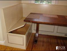 Bench Storage Under the Breakfast Nook | Fox Woodworking