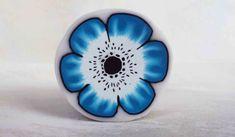 Millefiori cane: Blue Anemone Flower_ polymer clay tutorial / fimo tutor...