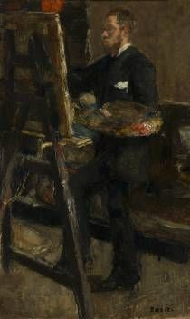 James Ensor, Portrait of Willy Finch, 1880 or 1882, oil on canvas, 50.2 cm x 32 cm, KMSKA