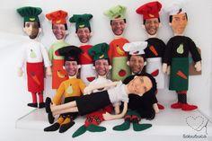 Sabutuca ♥: bonecos faces: encomenda do Papai Noel