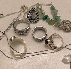 Grunge Jewelry, Funky Jewelry, Hippie Jewelry, Cute Jewelry, Jewelry Rings, Silver Jewelry, Jewelry Accessories, Nail Ring, Accesorios Casual