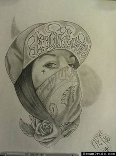 New drawing tattoo chicano girls ideas Chicano Art Tattoos, Chicano Drawings, Gangster Tattoos, Tattoo Drawings, Art Drawings, Chicano Tattoos Gangsters, Gangster Drawings, Arte Cholo, Cholo Art