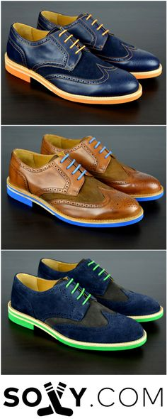 d5cfeee21a8 Bold Leather   Suede Dress Shoes For Men