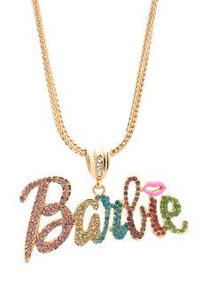embellished barbie necklace