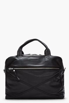 4d28bd5fd4e SURFACE TO AIR Large Matte Black Nappa Leather Weekend Duffle Bag Coach Bags  Outlet, Cheap