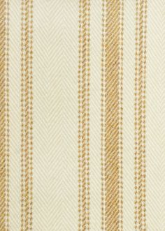 Drummond Stripe Fabric Striped chevron wool upholstery fabric in cream and french mustard yellow.  Suitable for curtains and upholstery.