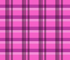 Pink and black tartan plaid fabric by diseniaz on Spoonflower - custom fabric Plaid Fabric, Tartan Plaid, Custom Fabric, Spoonflower, Craft Projects, Fabrics, Colorful, Quilts, Printed