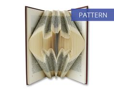 Folded Book Art Pattern - Batman - 160 Folds - Including manual - Bookfolding Pattern - Folded Book Pattern - Book Folding pattern