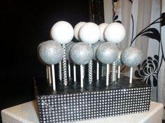 bling black / silver faux rhinestone foil by aprincesspractically, $25.00