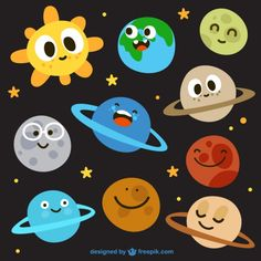 Cartoon sun and nine planets vector material Space Classroom, Classroom Decor, Space Party, Space Theme, Space Projects, School Projects, Diy And Crafts, Crafts For Kids, Paper Crafts