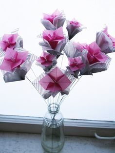 Geometric butterflies translucent origami 4800 via etsy translucent origami pansies on wire stems mightylinksfo