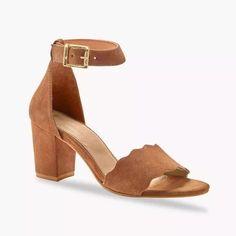 Sandále na podpätku, kožená useň, karamelové   blancheporte.sk #blancheporte #blancheporteSK #blancheporte_sk  #shoes #topanky #kozenaobuv #koze Wedges, Shoes, Fashion, Wide Feet, Barefoot, Heeled Sandals, Shoe, Wall Plug, Moda