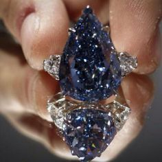 The Perfect Blue Diamond - a 13.22 carat Flawless Vivid Blue Diamond auctioned…