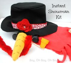 Boy, Oh Boy, Oh Boy Crafts: Handmade Gifts For Boys: Instant Snowman Kit