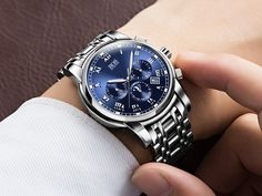 ANGELA BOS Sub Dial Work Waterproof Luminous Mens Watches Top Brand Luxury 2016 Men's Watches Quartz-watch Wrist Watches For Men Love it?  #shop #beauty #Woman's fashion #Products #Watch