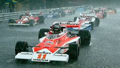 James Hunt & Niki Lauda - 1976 - Japanse GP (Fuji)
