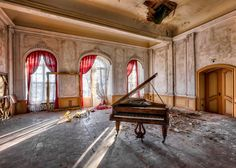 """German photographer Christian Richter has been breaking into hundreds of empty buildings across Europe to capture their """"swan song""""."""