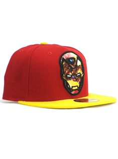New Era Iron Man 59fifty Custom Fitted Hat Size 7 3 8 Marvel Comics Heroes e02ea620e703