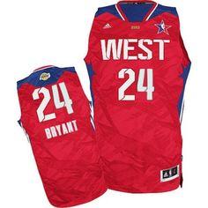 Kobe Bryant Swingman In Red Adidas NBA Los Angeles Lakers 2013 All Star  24  Men s d3d074e5e