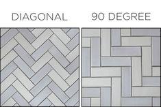 herringbone tile floor 10 Herringbone Tile Ideas M - flooring Herringbone Tile Pattern, Herringbone Subway Tile, Wood Floor Pattern, Floor Tile Patterns, Subway Tile Patterns, Harringbone Tile, Easy Tile, Diagonal, Statement Wall