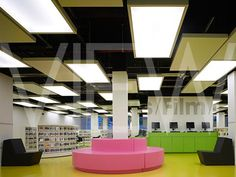 BARKING LEARNING CENTRE AND APARTMENTS GROUND FLOOR LIBRARY DAY