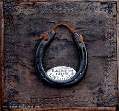 The Love & Faith Horseshoe™ Traditional Symbol of Good Luck Handmade Original by Sycamore Hill. Southern Charm. Rustic Home Blessing