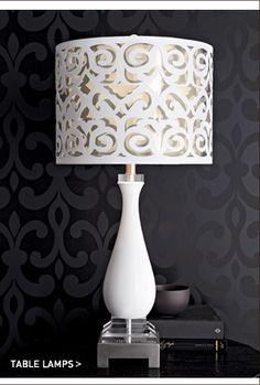 Scroll-Shade Table Lamp