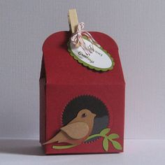 Box made with the Stampin Up Baker's Box Thinlits Die Set.