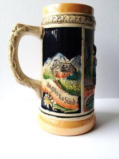 Vintage #German Beer #Stein Mug