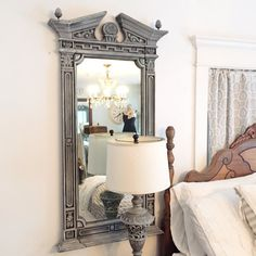 large wall mirror restoration hardware style by