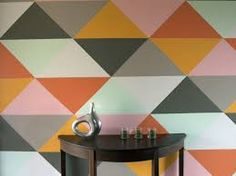 Image result for teen girl triangle accent wall pattern