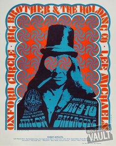 Big Brother and the Holding Company Poster, Avalon Ballroom (San Francisco, CA) Dec 9, 1966