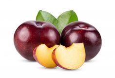 Red cherry plum with green leaves isolat... | Premium Photo #Freepik #photo #food #fruit #tropical #healthy Plum Garden, Sour Plum, Green Leaf Background, Plum Jam, Red Plum, Plum Tree, Juicy Fruit, White Texture