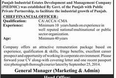 Job Opportunity (Punjab Industrial Estates) - New Jobs Portal