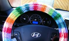 crochet steering wheel cover - Google Search