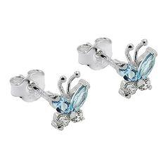 Luxury Jewelry, Belly Button Rings, Studs, Cufflinks, Handmade Jewelry, Butterfly, Stud Earrings, Silver, Accessories