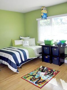 Decor ideas for boys rooms - blue and green room