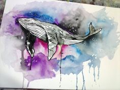 Space Whale. Art by @Washington Albuquerque on @yotseds Studio.