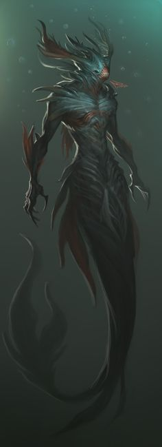 Monster sirene under the sea